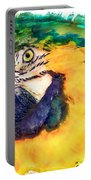 Parrot Ara Watercolor Painting Portable Battery Charger