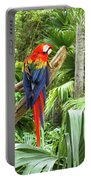 Parrot In Tropical Setting Portable Battery Charger