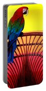 Parrot Sitting On Chair Portable Battery Charger by Garry Gay