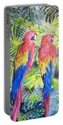 Parrots In Jungle Portable Battery Charger