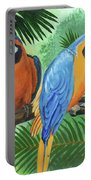 Parrots In Light And Shade Portable Battery Charger