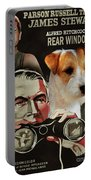 Parson Russell Terrier Art Canvas Print - Rear Window Movie Poster Portable Battery Charger