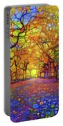 Park In Autumn Portable Battery Charger