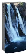 Partial Side View Of Burney Falls Ca Portable Battery Charger