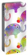 Party Parade - Elephant Children Pattern Portable Battery Charger