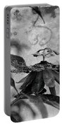 Passion Flower Black And White Portable Battery Charger