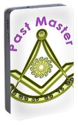 Past Master In White Portable Battery Charger