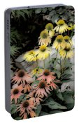 Pastel Cone Flowers Portable Battery Charger