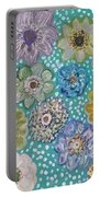 Pastel Floral Garden Portable Battery Charger