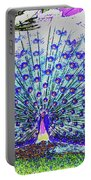 Pastel Peacock Portable Battery Charger