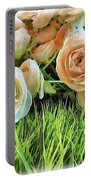 Pastel Roses Portable Battery Charger