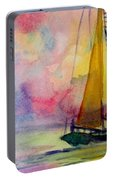 Pastel Sail Portable Battery Charger