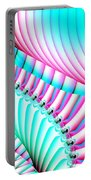 Pastel Spiral Staircase Fractal Portable Battery Charger