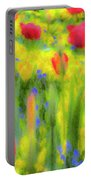 Pastel Summer Flowers  Portable Battery Charger