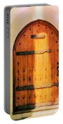 Pastel Wooden Door Portable Battery Charger