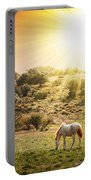 Pasturing Horse Portable Battery Charger by Carlos Caetano