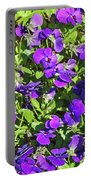 Patch Of Pansies Portable Battery Charger