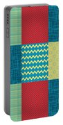 Patchwork Patterns - Muted Primary Portable Battery Charger