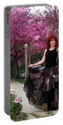 Patchwork Skirt - Hippie Fashion - Pink Spring Portable Battery Charger