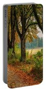 Path Along The Horses Meadow On The Farm Lovedayvale L B Portable Battery Charger