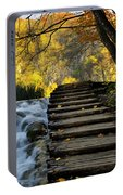 Path In Plitvice Portable Battery Charger