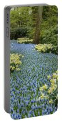 Path Of The Beautiful Spring Flowers Portable Battery Charger