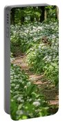 Path Through A Deciduous Forest, Wild Garlic Portable Battery Charger