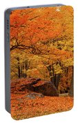Path Through New England Fall Foliage Portable Battery Charger