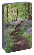 Path Through The Bluebells Portable Battery Charger