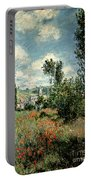 Path Through The Poppies Portable Battery Charger by Claude Monet