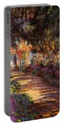 Pathway In Monet's Garden Portable Battery Charger