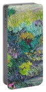 Pathway Of Flowers Portable Battery Charger