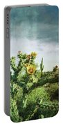 Patina Green Desert Bloom Portable Battery Charger
