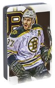 Patrice Bergeron Boston Bruins Oil Art 1 Portable Battery Charger