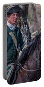 Patriot On Horse At Tower Park Battle Portable Battery Charger