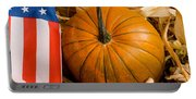 Patriotic American Pumpkin Portable Battery Charger