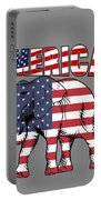 Patriotic Elephant Portable Battery Charger