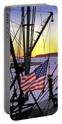 Patriotic Fisherman Portable Battery Charger