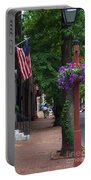 Patriotic Street In Philadelphia Portable Battery Charger