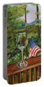 Star Spangled Wine - Fourth Of July - Blue Ridge Mountains Portable Battery Charger