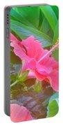 Pat's Hibiscus  Portable Battery Charger