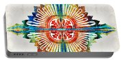 Pattern Art - Color Fusion Design 1 By Sharon Cummings Portable Battery Charger