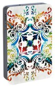 Pattern Art - Color Fusion Design 7 By Sharon Cummings Portable Battery Charger