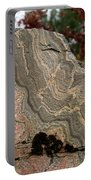 Pattern In A Gneiss Rock Portable Battery Charger
