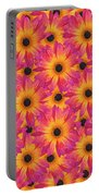 Pattern Of African Daisies Portable Battery Charger
