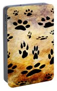 Paw Prints Portable Battery Charger