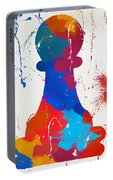 Pawn Chess Piece Paint Splatter Portable Battery Charger