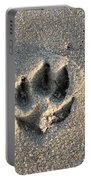 Pawprint In The Sand Portable Battery Charger