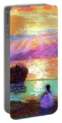 Peace Be Still Meditation Portable Battery Charger