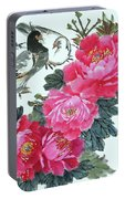 Peace Flowers Portable Battery Charger